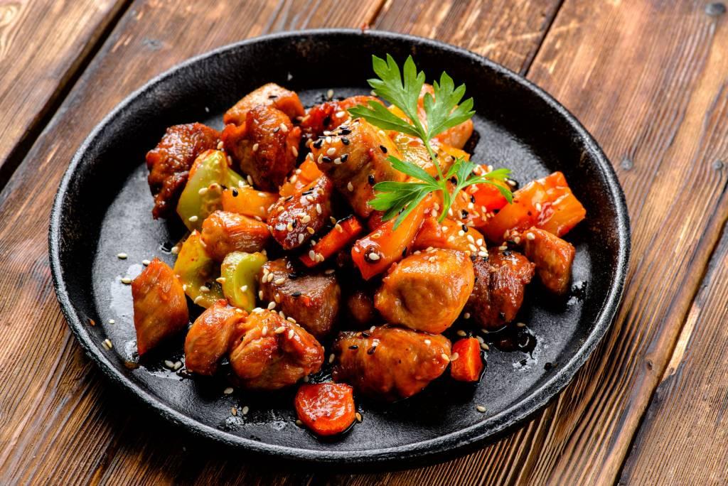 рецепты января: свинина в имбирном соусе